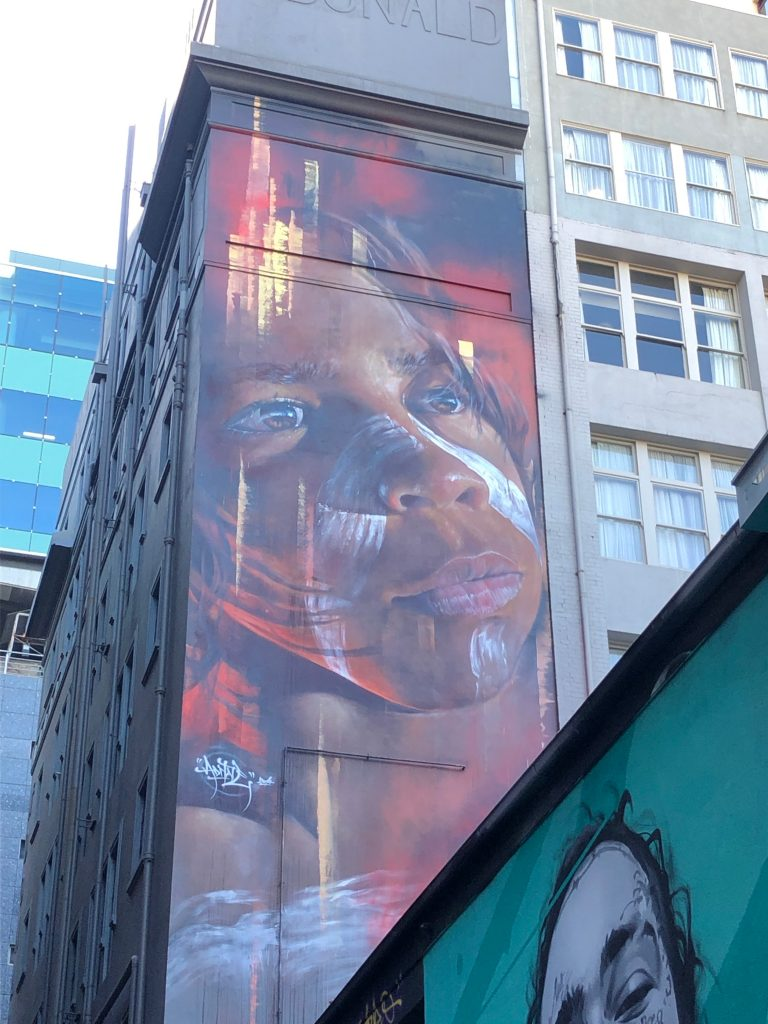 Street art by Adnate in Melbourne, Australia